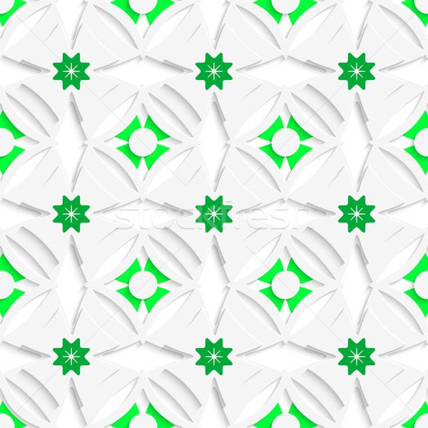 White ornament and green layering seamless Stock photo © Zebra-Finch