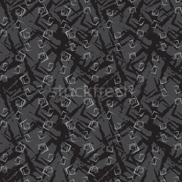Stock photo: Repeating ornament dark small rough shapes