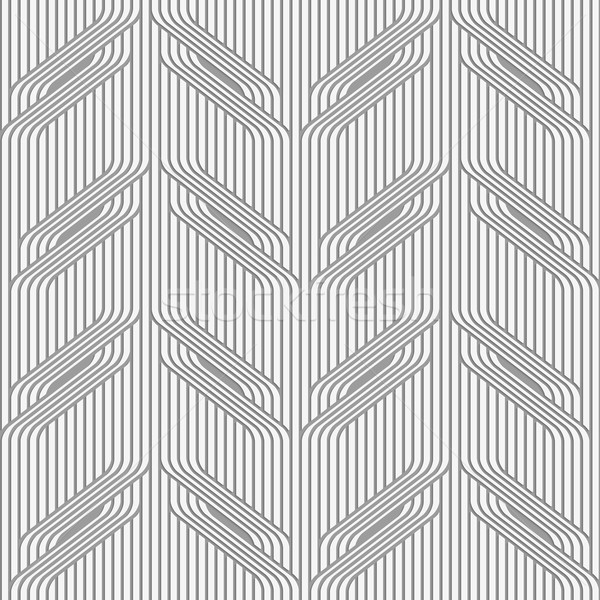 Perforated paper with tree branches on continues lines  Stock photo © Zebra-Finch