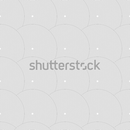 Slim gray striped overlapped circles in row Stock photo © Zebra-Finch