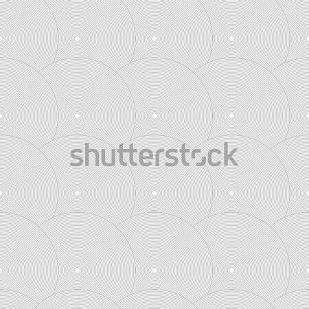 Ince gri çizgili circles Stok fotoğraf © Zebra-Finch