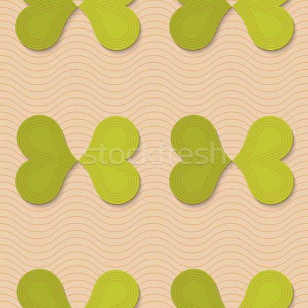 Retro fold green butterflies  Stock photo © Zebra-Finch