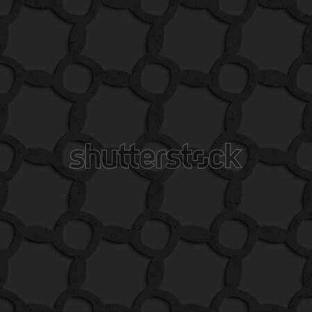 Nero plastica griglia abstract geometrica Foto d'archivio © Zebra-Finch