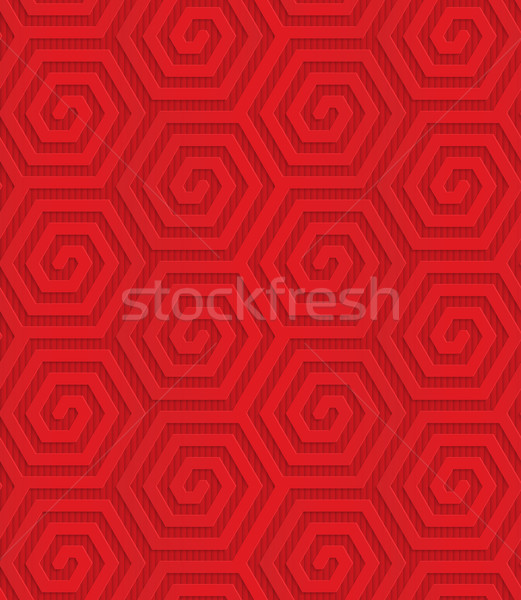 Red diagonal hexagonal spirals Stock photo © Zebra-Finch