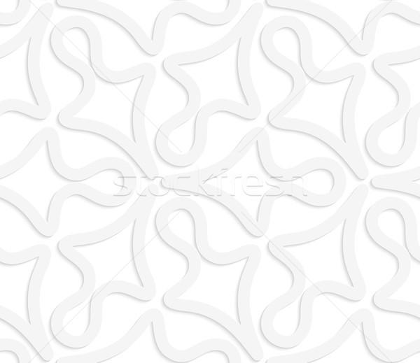 3D 白 抽象的な 幾何学的な シームレス 幾何学模様 ストックフォト © Zebra-Finch