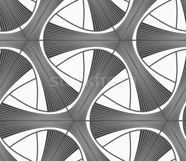 Monochromatyczny ciemne pasiasty sieci bezszwowy geometryczny wzór Zdjęcia stock © Zebra-Finch