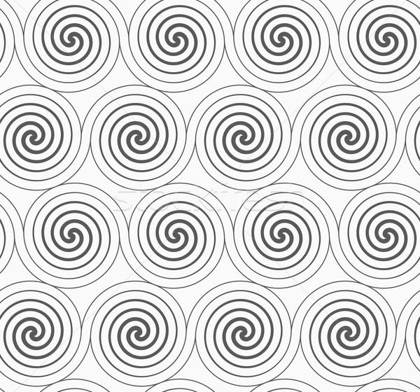 Gray merging Archimedean spirals Stock photo © Zebra-Finch