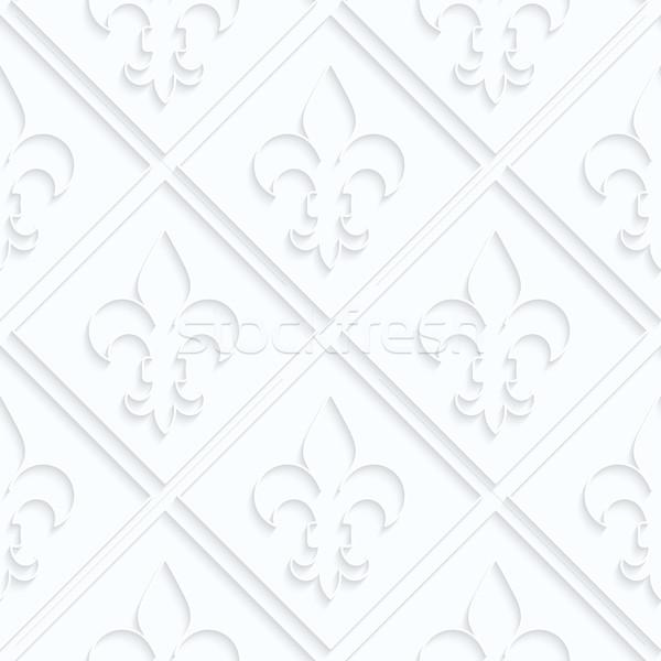 紙 グリッド 幾何学的な 3D ストックフォト © Zebra-Finch