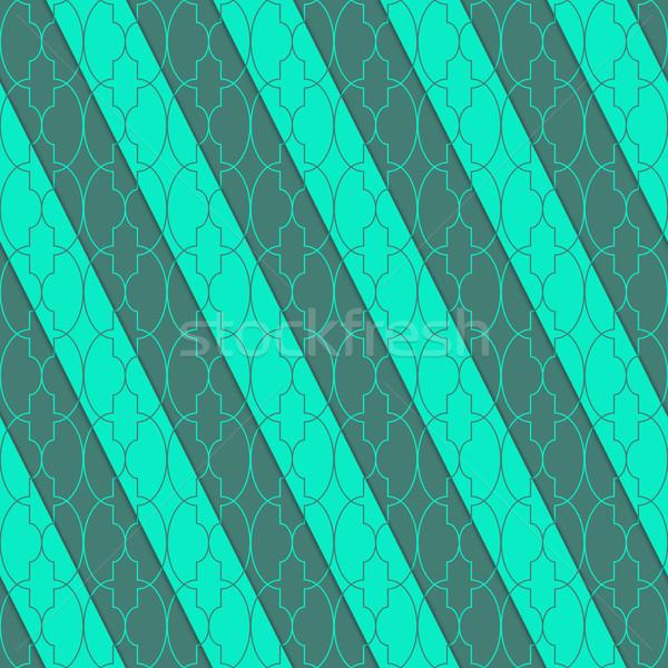 ретро 3D зеленый овальный шаблон Сток-фото © Zebra-Finch