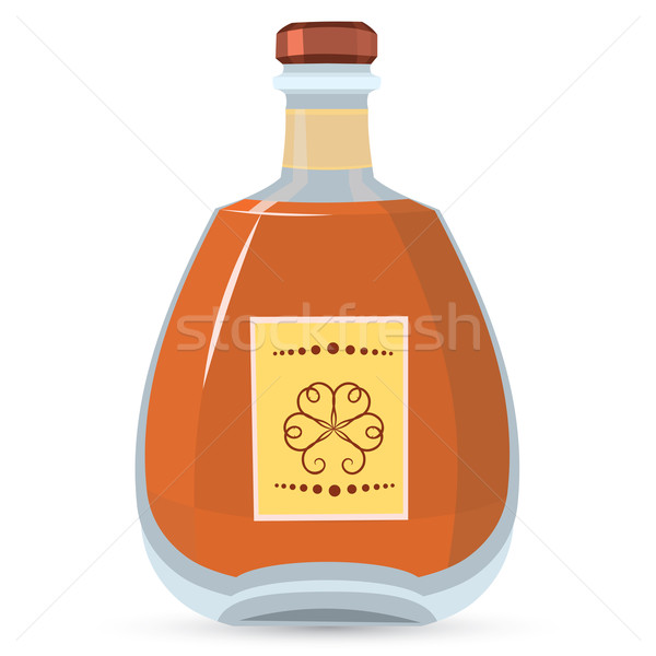 Stock photo: Bottle with whiskey vector illustration