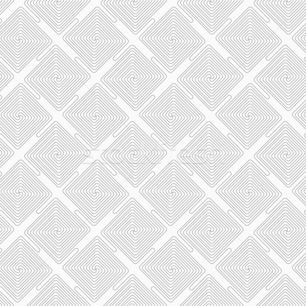 Slim gray square diagonally connecting spirals Stock photo © Zebra-Finch