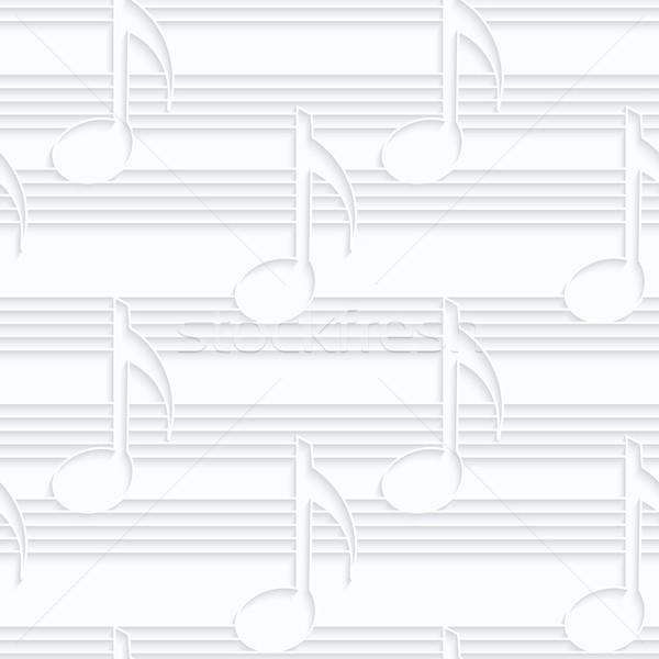 Photo stock: Papier · notes · de · musique · musique · géométrique · 3D