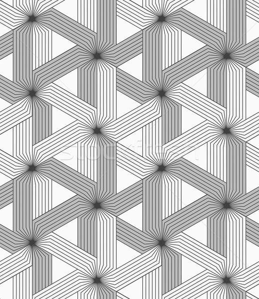 Gri çizgili üç Yıldız şık geometrik Stok fotoğraf © Zebra-Finch