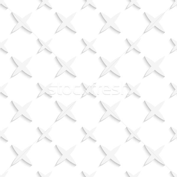 White small and big stars seamless pattern Stock photo © Zebra-Finch