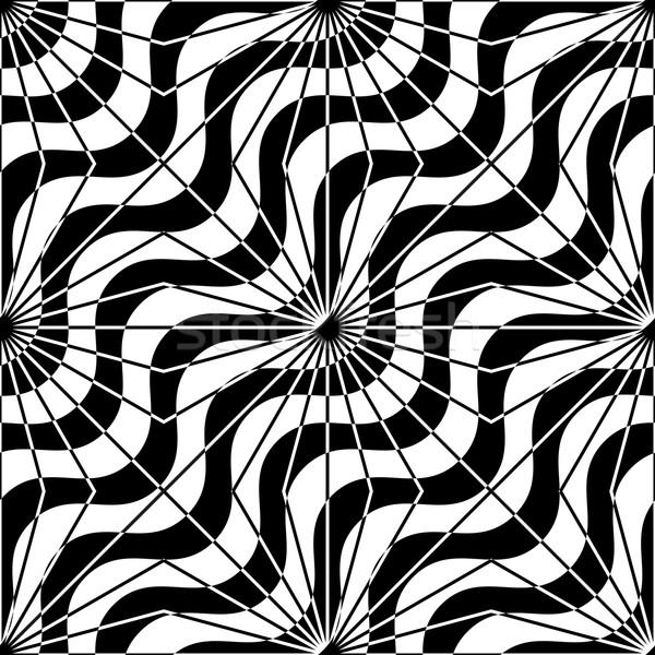 Blanco negro diagonal olas elegante geométrico Foto stock © Zebra-Finch