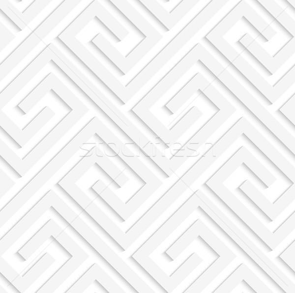 Beyaz 3D geometrik modern tek renkli doku Stok fotoğraf © Zebra-Finch