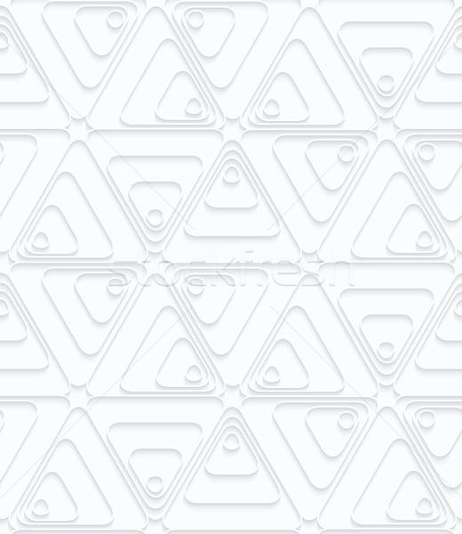 白 紙 ターン 幾何学的な 3D ストックフォト © Zebra-Finch