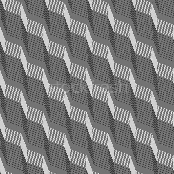 In bianco e nero pattern nero grigio strisce diagonale Foto d'archivio © Zebra-Finch