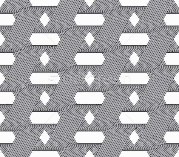 Ribbons forming horizontal overlapping loops pattern Stock photo © Zebra-Finch