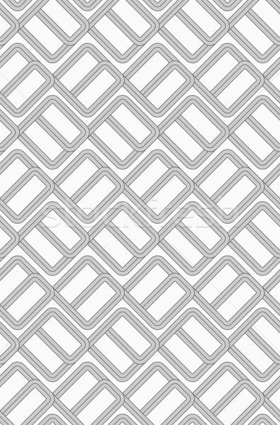 グレー ダブル レンガ スタイリッシュ 幾何学的な 現代 ストックフォト © Zebra-Finch