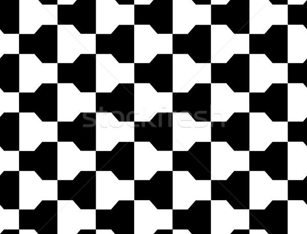 Bianco nero geometrica moderno abstract pattern Foto d'archivio © Zebra-Finch