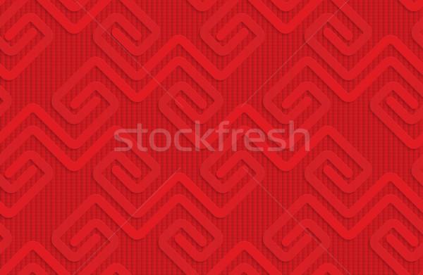 Red square fastening spirals on checkered background Stock photo © Zebra-Finch