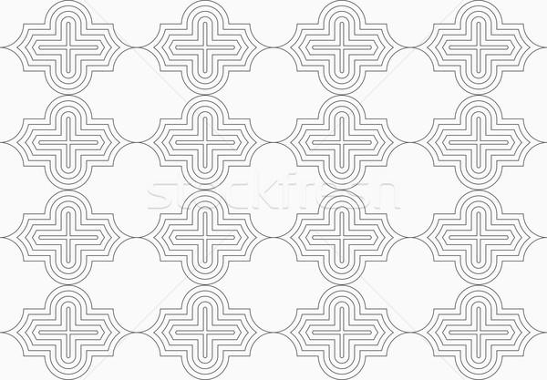 スリム グレー 水平な スタイリッシュ 幾何学的な 現代 ストックフォト © Zebra-Finch