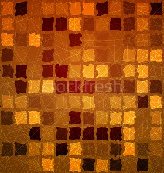 Brick tile orange with grunge Stock photo © Zebra-Finch