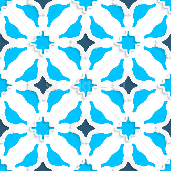 Wavy squares with light and dark blue seamless Stock photo © Zebra-Finch