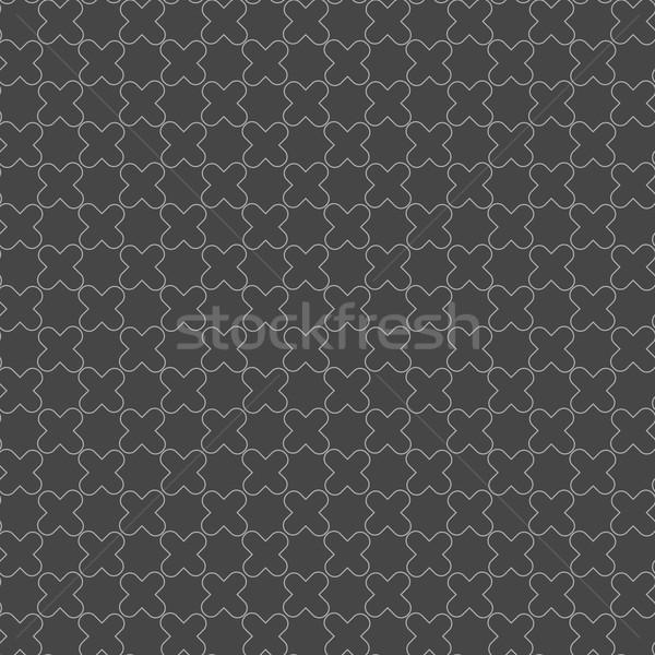 Monochrome pattern with complex shaped lattice Stock photo © Zebra-Finch