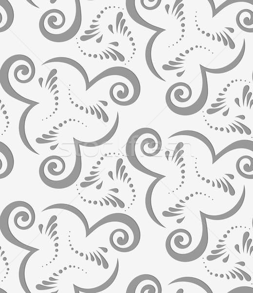 Fanfare geometrischen modernen monochrome 3D Textur Stock foto © Zebra-Finch