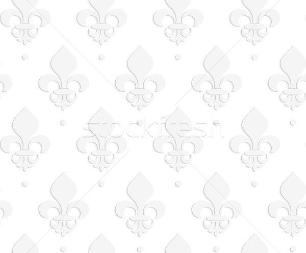 White 3D solid Fleur-de-lis Stock photo © Zebra-Finch