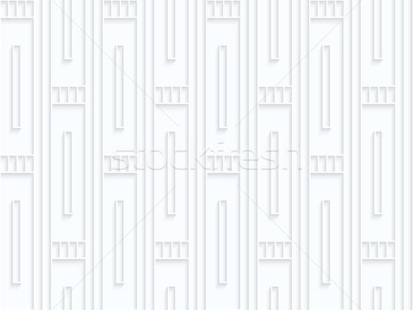 Fehér papír csíkok mértani végtelen minta 3D Stock fotó © Zebra-Finch