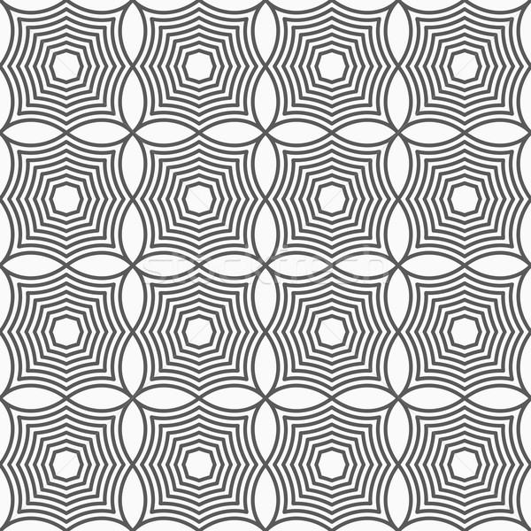Karcsú szürke négyzetek elegáns mértani modern Stock fotó © Zebra-Finch
