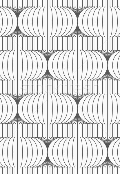 Slim gray vertical merging Chinese lanterns Stock photo © Zebra-Finch