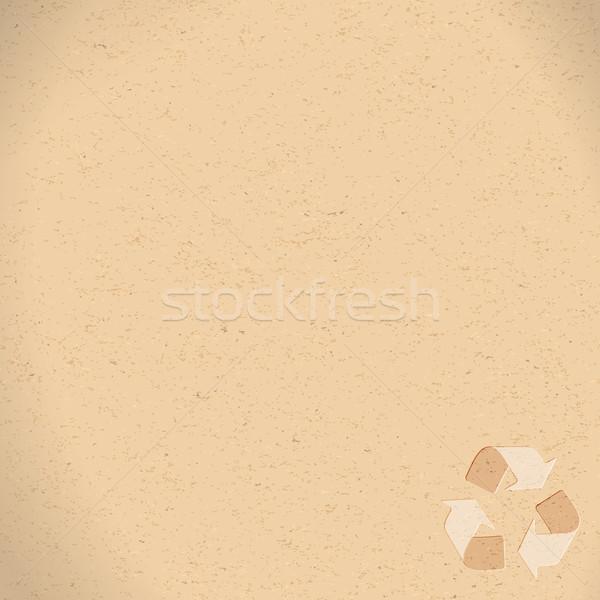 Valósághű újrahasznosított papír újrahasznosítás szimbólum copy space Stock fotó © Zebra-Finch