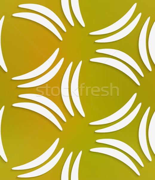 Weiß Bananen Formen Mesh abstrakten Stock foto © Zebra-Finch