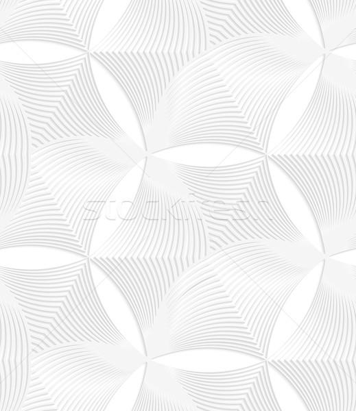 3D white striped puckered hexagons Stock photo © Zebra-Finch