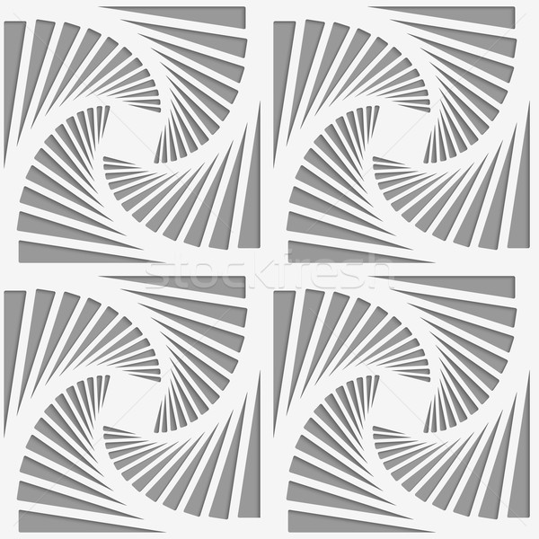 Stock photo: Perforated striped rotated triangular shapes