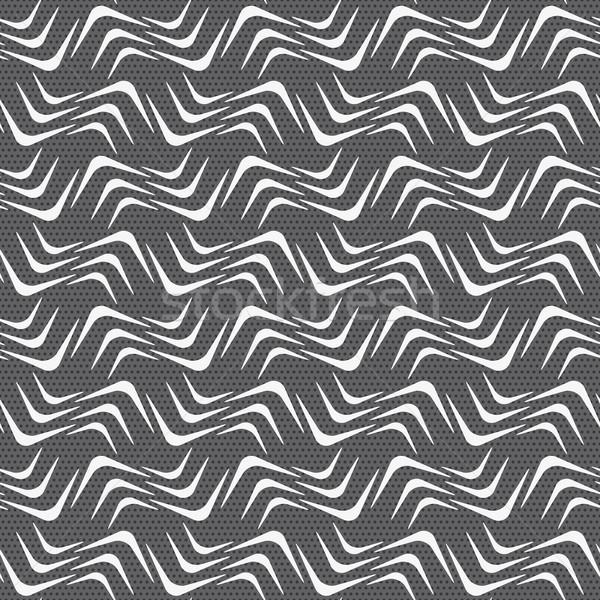 Ismétlés dísz fehér hullámos sarkok szürke Stock fotó © Zebra-Finch