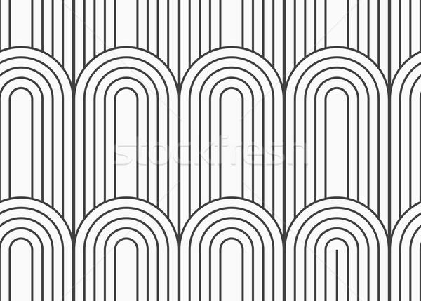 グレー 行 抽象的な 幾何学的な パターン ストックフォト © Zebra-Finch