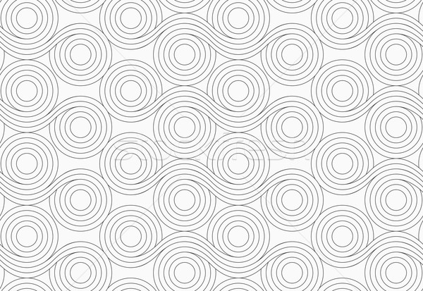 Gray circles with wavy lines merging Stock photo © Zebra-Finch