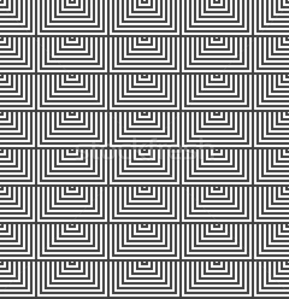 Siyah beyaz yarım kareler geometrik Stok fotoğraf © Zebra-Finch