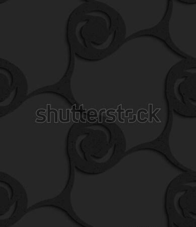 Black textured plastic spirals merging in grid Stock photo © Zebra-Finch