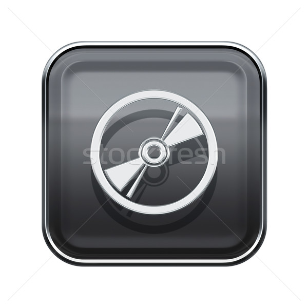 Compact Disc icon glossy grey, isolated on white background Stock photo © zeffss