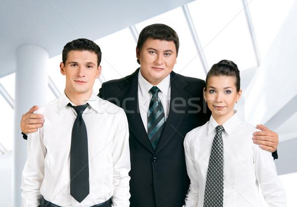 ストックフォト: ビジネスチーム · 上司 · 幸せ · コマンド · ビジネス · 少女