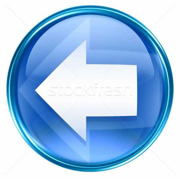 Arrow left icon blue, isolated on white background. Stock photo © zeffss
