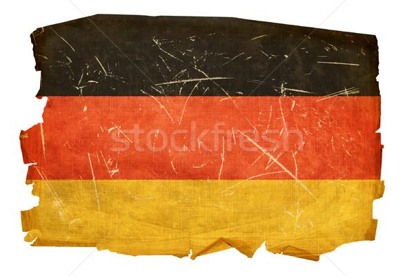 Stok fotoğraf: Almanya · bayrak · eski · yalıtılmış · beyaz · kâğıt