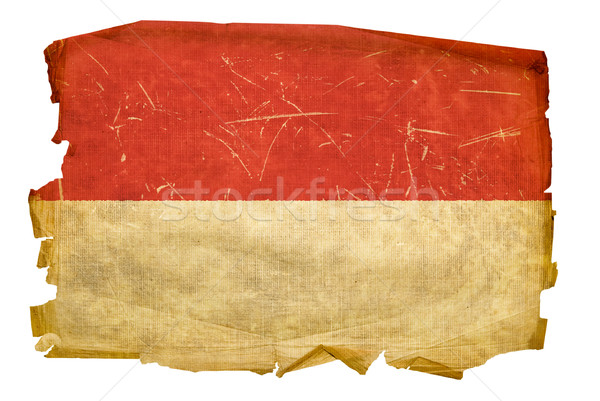 Indonesia Flag old, isolated on white background. Stock photo © zeffss