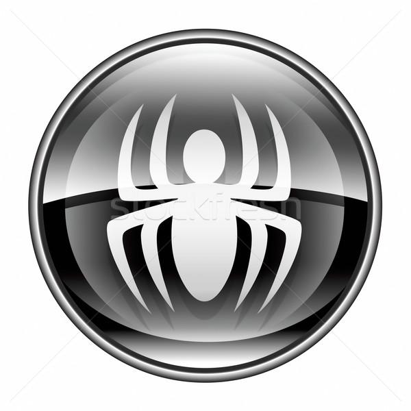 вирус икона черный изолированный белый компьютер Сток-фото © zeffss